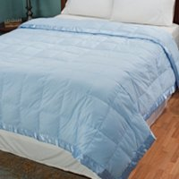 Cozelle Solid Color Microfiber Down Blanket with Satin Trim