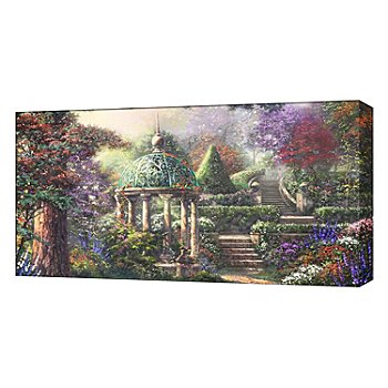 430-023 - Thomas Kinkade ''Gazebo of Prayer'' 16'' x 31'' Panoramic Gallery Wrap