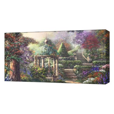 "430-023 - Thomas Kinkade ""Gazebo of Prayer"" 16"" x 31"" Panoramic Gallery Wrap"