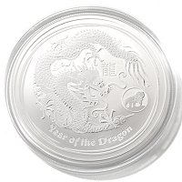 Perth Mint Lunar Dragon 1oz Silver Dollar