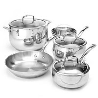 Macy's Belgique Stainless Steel 8 Piece Cookware Set Exclusive to ShopNBC