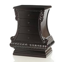 HAND CRVED HOUR GLASS FOUR DRAWER SIDE TABLE