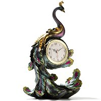 FLOWETIC PEACOCK ACCENT CLOCK