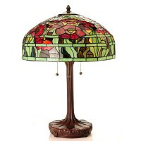 LOUIS COMFORT TIFFANY INSPIRED ORIENTAL POPPY TABLE LAMP
