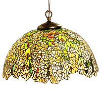LOUIS COMFORT TIFFANY INSPIRED LABURNUM HANGING LAMP