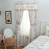 """Bloom"" Valance and Drapery Panel Pair"