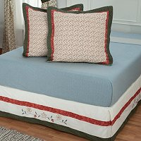 """Hayworth"" Euro Sham Pair and Bed Skirt Set"