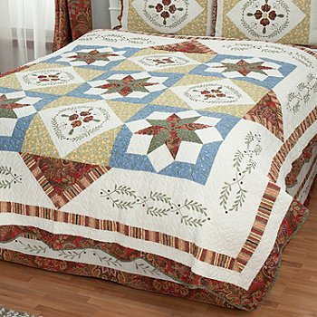 430-323 - North Shore™ Collectible Quilts ''Star Sampler'' Limited Edition 100% Cotton Quilt