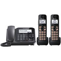 Panasonic Expandable Digital Corded Phone w ith Cordless 2 Handsets