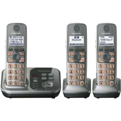 430-341 - Panasonic KX-TG7733S Link-to-Cell Convergence Solution Phone w/ Three Handsets