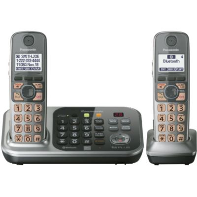 430-343 - Panasonic KX-TG7742S Link-to-Cell Convergence Solution Phone w/ Two Handsets