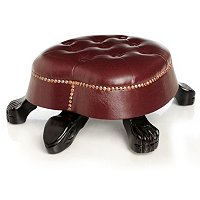 DIGBY'S HAND CARVED TURTLE STOOL