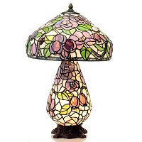 PERIWINKLE DOUBLE LIT TABLE LAMP