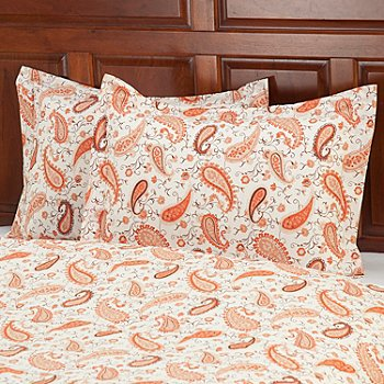 430-666 - European Made Luxury Paisley Sham Pair