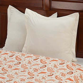 430-668 - European Made Luxury Paisley Euro Sham Pair