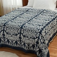 """Willimington"" Yarn-Dyed Portuguese Coverlet"
