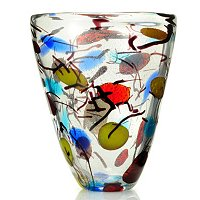 FAVRILE ART GLASS MULTI COLOR VASE