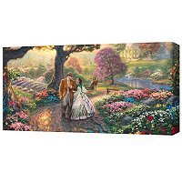 "THOMAS KINKADE ""GONE WITH THE WIND"" PANORAMIC GALLERY WRAP"