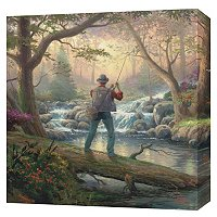 "THOMAS KINKADE ""IT DOESN'T GET MUCH BETTER"" 20X20 GALLERY WRAP"