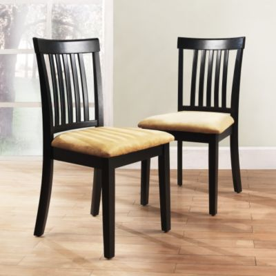 430-771 - HomeBasica Set of Two Mission Back Black Chairs