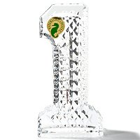 WATERFORD CRYSTAL #1 PAPERWEIGHT