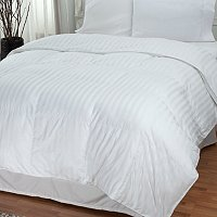 North Shore Linens 500 Duraloft Damask Stripe Down Alternative Comforter