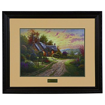 430-919 - Thomas Kinkade ''Peaceful Time'' 24'' x 18'' Limited Edition Framed Print