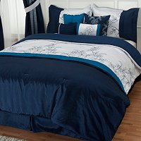 "Cozelle ""Printemps"" 8pc Embroidered Comforter Set"