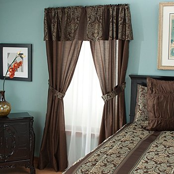 430-951 - North Shore Linens™ ''Murano'' Five-Piece Window Set