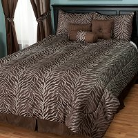 "Cozelle ""Jungle"" 7pc Jacquard Comforter Set"