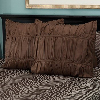 430-953 - North Shore Linens™ ''Jungle'' Set of Two Euro Shams