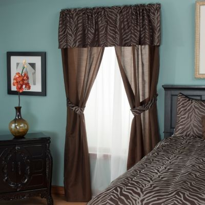 "430-954 - North Shore Linens™ ""Jungle"" Five-Piece Window Set"