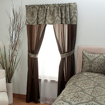 430-957 - Cozelle® ''Bianca'' Attached Panel & Valance Window Set