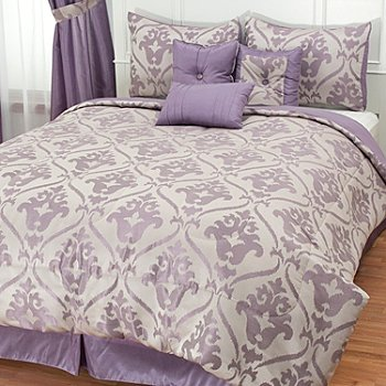 430-961 - North Shore Linens™ ''Christy'' Jacquard Seven-Piece Bedding Ensemble
