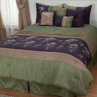 "Cozelle ""Arles"" 7pc Embroidered Comforter Set"