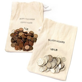 430-994 - Half-Pound Bag Silver Hoard & One-Pound Bag Copper Hoard