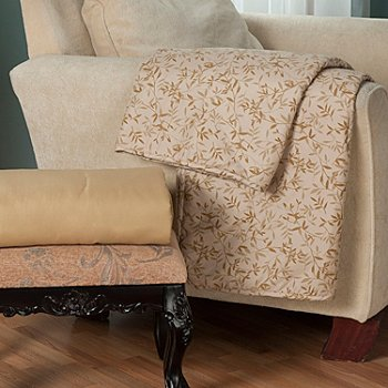 431-003 - Cozelle® ''Ridegwood'' Set of Two Microfiber 60'' x 50'' Throws