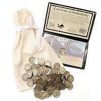 1 POUND BUFFALO NICKELS WITH GUARANTEED LAST YEAR 38D BUFFALO IN HOLDER.