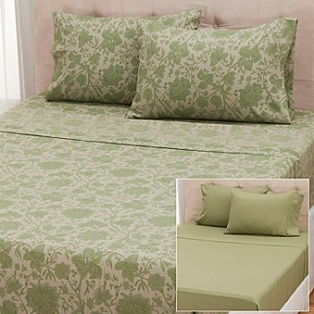 431-013 - Cozelle® ''Sophia'' Microfiber Set of Two Four-Piece Sheet Sets