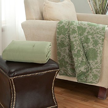 431-015 - Cozelle® ''Sophia'' Set of Two Microfiber 60'' x 50'' Throws