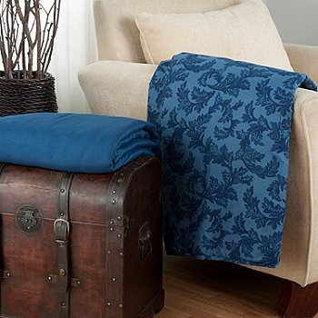 431-018 - Cozelle® ''Acanthus'' Set of Two Microfiber 60'' x 50'' Throws