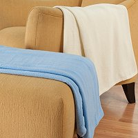 North Shore Linens Set of 2 Cotton Throws