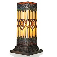 Lorena Stained Glass Pillar Lamp