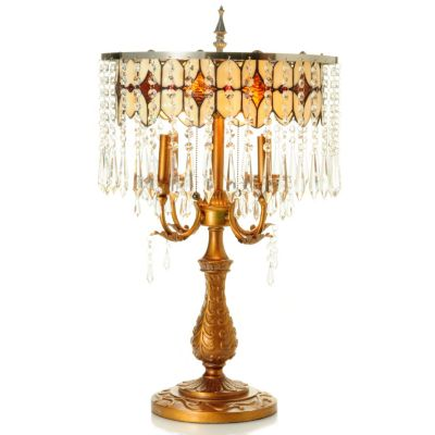 "431-039 - 28"" ""Jesabelle's"" Crystal Table Lamp"