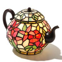 Pentas Stained Glass Teapot Accent Lamp