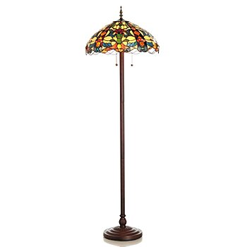 431-045 - Tiffany-Style 62.5'' Belcourt Stained Glass Floor Lamp