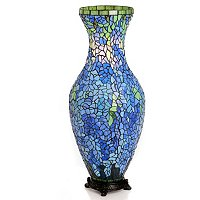 Wisterious Wonder Stained Glass Vase Lamp