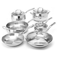 Macy's Belgique Stainless Steel 10 Piece Exclusive Cookware Set A