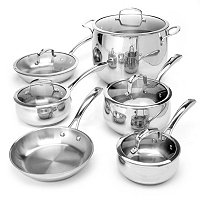 Macy's Belgique Stainless Steel 11 Piece Exclusive Cookware Set B
