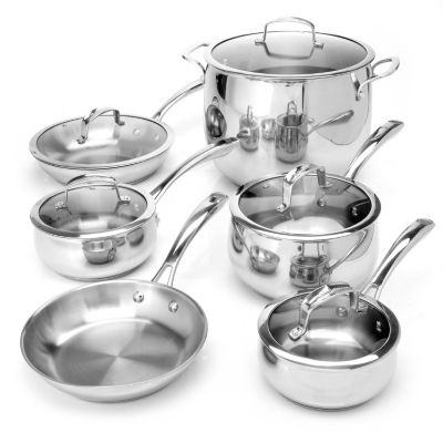 431-084 - Macy's Tools of the Trade® Belgique® 11-Piece Stainless Steel Cookware Set